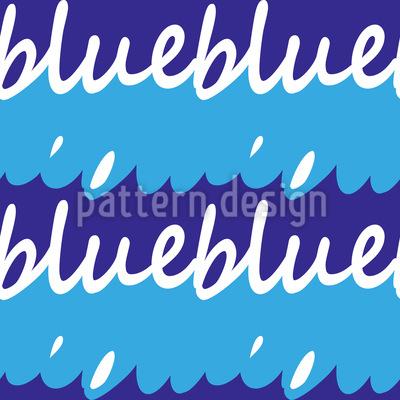 Wellen Schriftzug  Vektor Muster