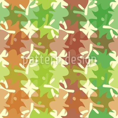Herbstliches Karo Muster Design