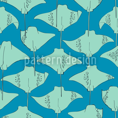 Stingrays In The Ocean Repeating Pattern