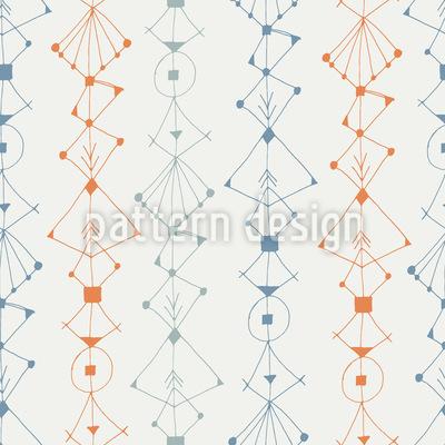 Skizzen-Bordüre Nahtloses Vektor Muster
