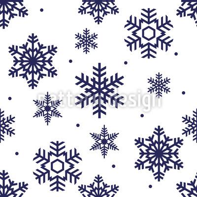 Schneeflocken Zeit Rapportiertes Design
