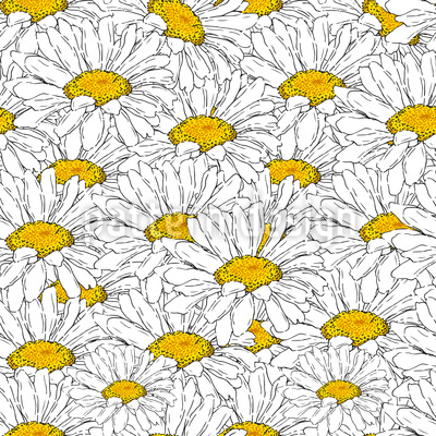 Sea Of Daisies Vector Ornament