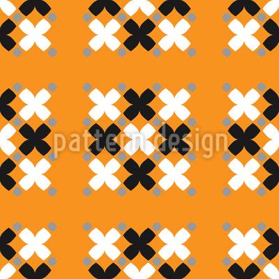 Gruppierte Kreuze Nahtloses Muster