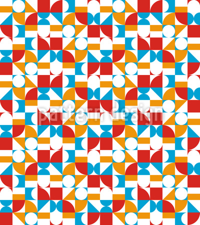 Sixties Geometric Seamless Vector Pattern