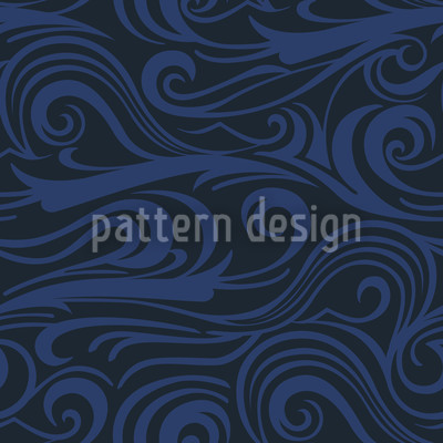 Wellengang Ozeania Muster Design