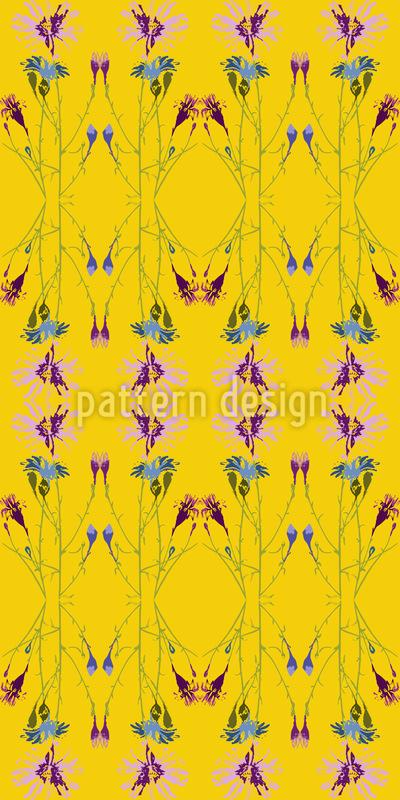 Strahlende Blumenbasis Musterdesign