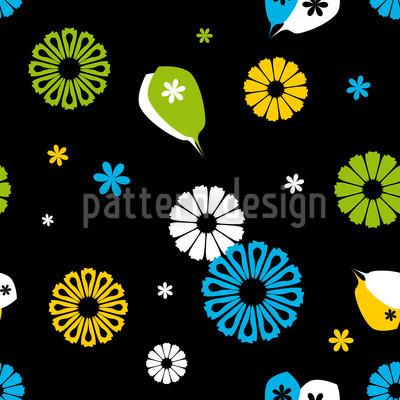 Flowerpower Black Design Pattern