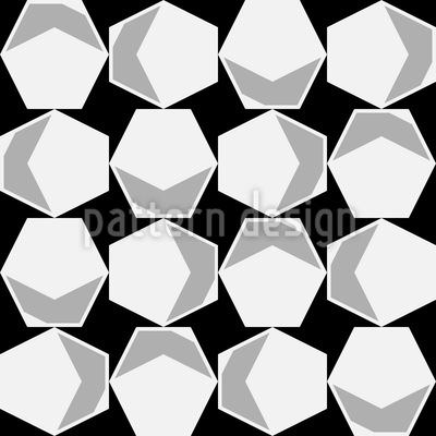Inside The Hexagon Seamless Vector Pattern
