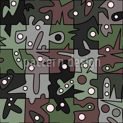 Playing In The Woods Seamless Pattern