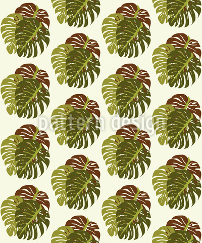 Dripping Leaves Vector Pattern