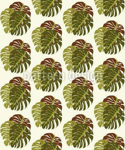 Tropfende Blätter Vektor Muster