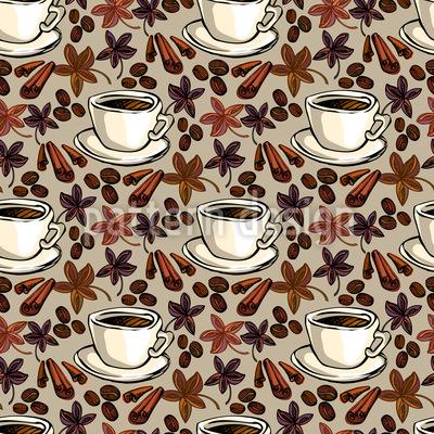 Gefühl Von Kaffee Rapportmuster
