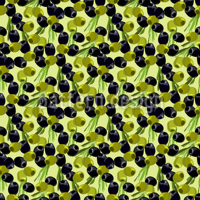 Tasty Olives  Seamless Pattern