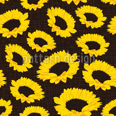 Sunflowers on Fabric Pattern Design
