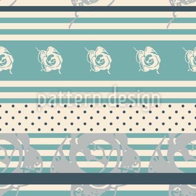 Rosenspitze auf Streifen und Punkte Vektor Design