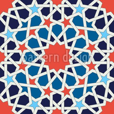 Flowering Mosaic Repeat Pattern
