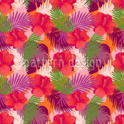 Tropischer Hibiskus Muster Design