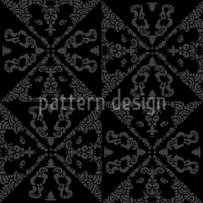 Monochrom Gekachelt Nahtloses Muster