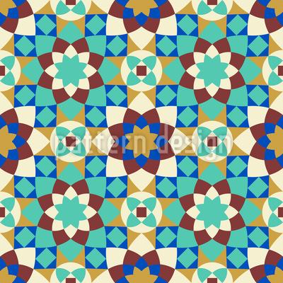 Arabische Fliese Vektor Muster