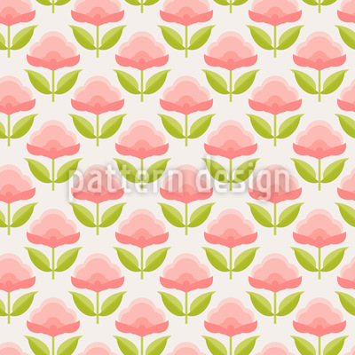 Sweet Candy Flowers Repeating Pattern
