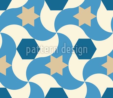 Wavy Star Pattern Design