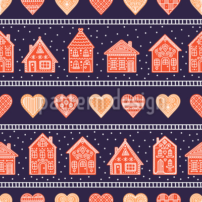 Oh Gingerbread Seamless Pattern