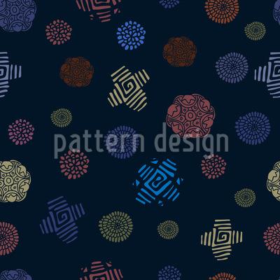 Primitive Schönheit Nahtloses Vektor Muster