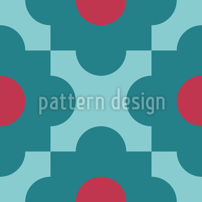 Geometric Flowers Repeating Pattern