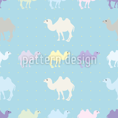 Count Camels Seamless Vector Pattern