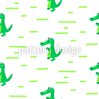 Cute Croco Pattern Design
