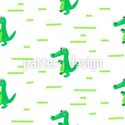 Niedliche Kroko Muster Design
