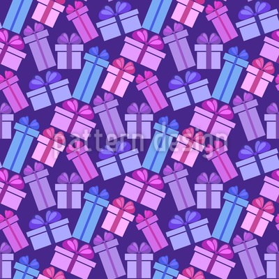Presents Over Presents Seamless Pattern
