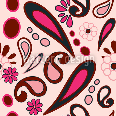 Beebob Paisley Pink Designmuster