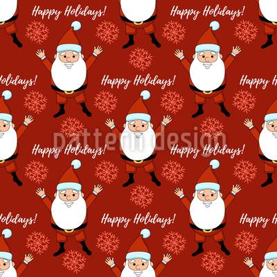 Frohe Festtage mit Santa Claus Designmuster