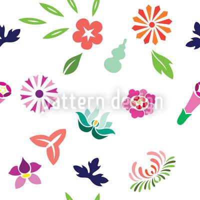 Japanischer Frühling Designmuster