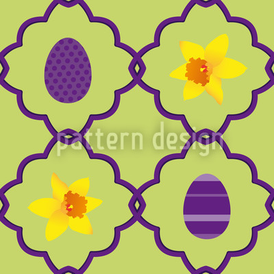 Easter Daffodils Vector Pattern