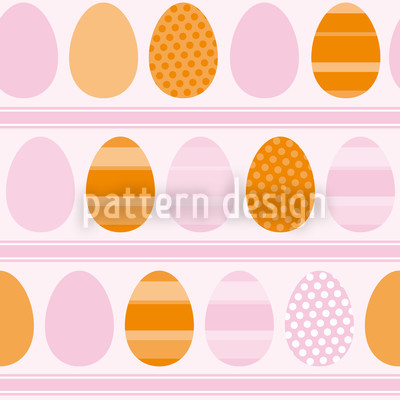 Rosa Osterei Streifen Muster Design