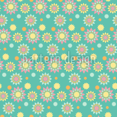 Grafische Sonnen Nahtloses Muster