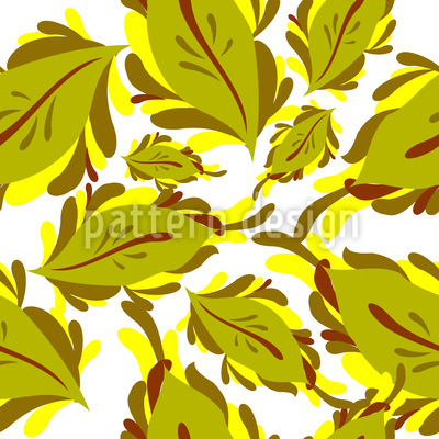 Grafische Blätter und florale Ornamente Rapportiertes Design
