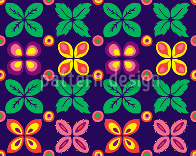 Flower Bed Round Repeating Pattern