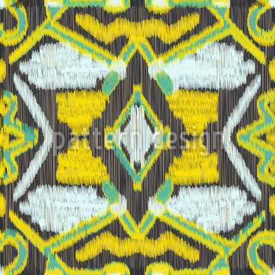 Ethno ikat repeat pattern - Ikat muster ethno design ...