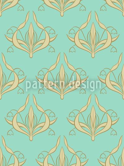 Lily Aquamarine Vector Ornament