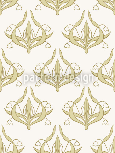 Lilly White Seamless Pattern