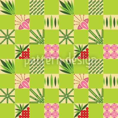 Checked Bamboo Pattern Repeat
