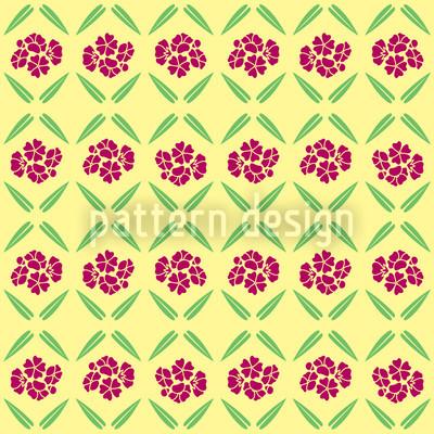 Sonnige Vintage Blumen Musterdesign