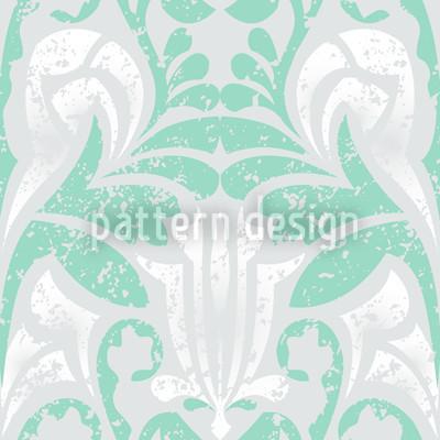 Damasko Grün Nahtloses Vektor Muster