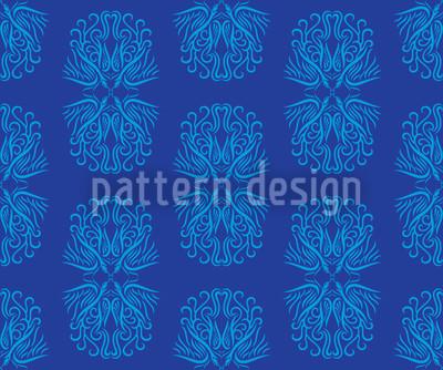 Phönix In Blau Designmuster
