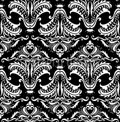 Black Opulence Vector Pattern