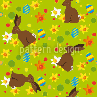 Easter Bunny Green Vector Design
