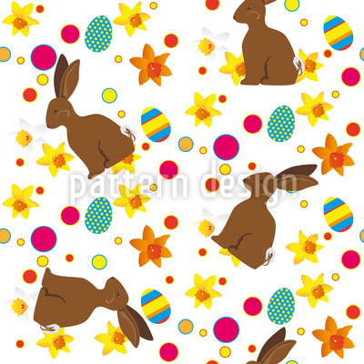 Easter Bunny Repeating Pattern
